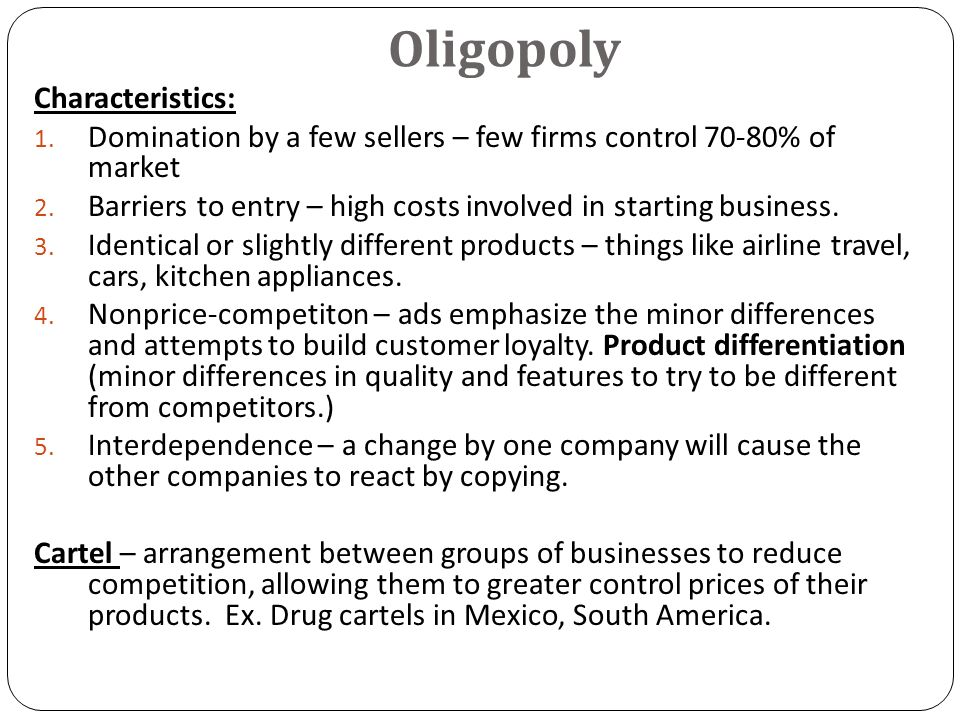 "toothpaste oligopoly This is ""oligopoly: competition among the a decision by procter & gamble to lower the price of crest toothpaste may elicit a oligopoly means that a few."