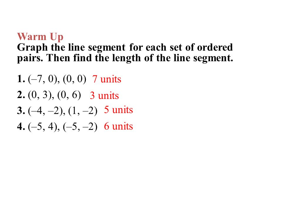 how to find the length of the line