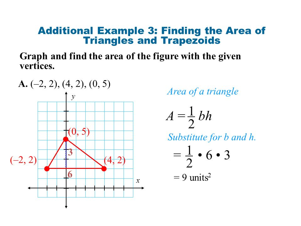 What does the word polygon mean ppt download additional example 3 finding the area of triangles and trapezoids ccuart Images