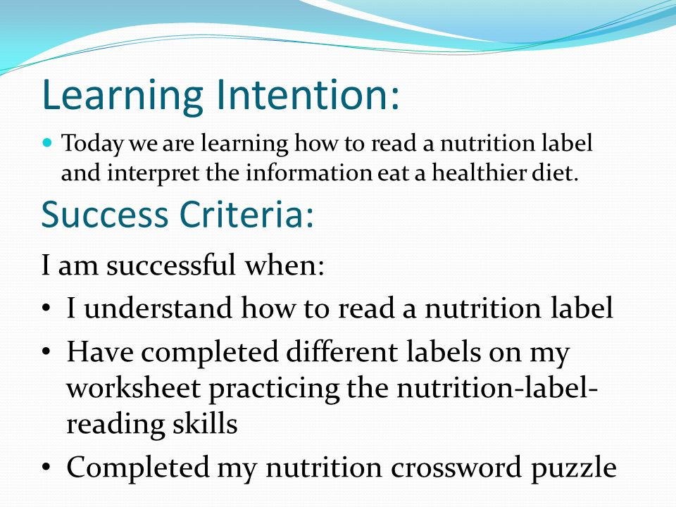 Nutrition Labels ppt download – Reading Nutrition Labels Worksheet