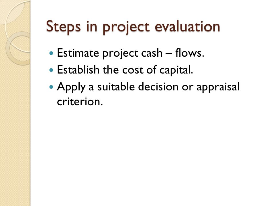Project EvaluationSelection  Ppt Video Online Download