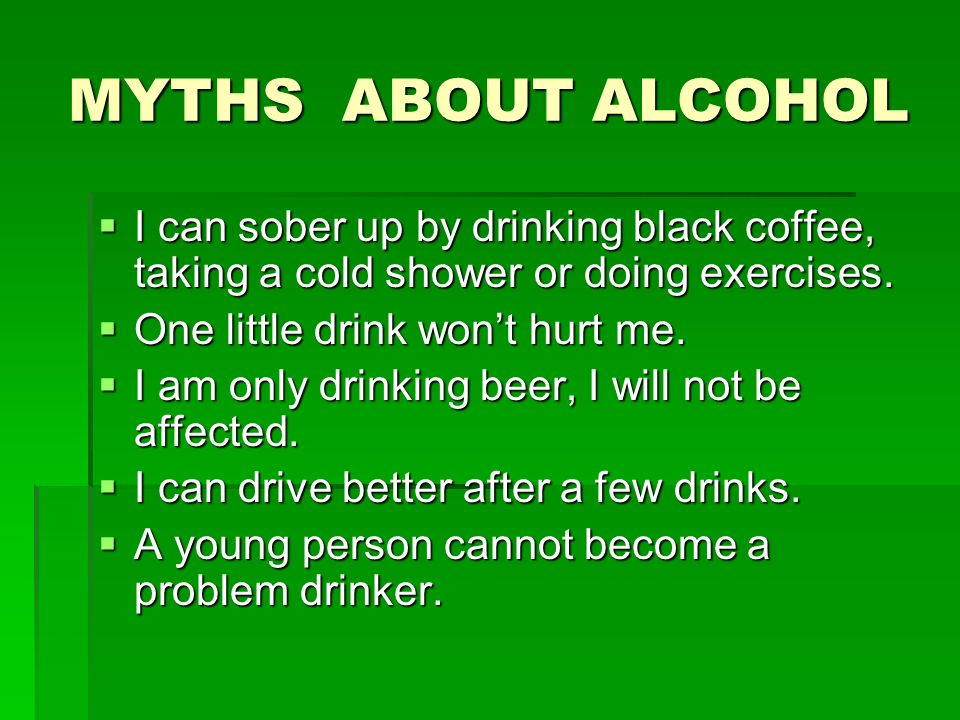 Alcohol driving ppt video online download - Myths and truths about coffee ...
