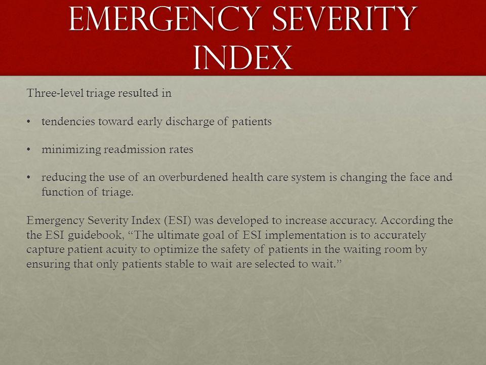 Emergency Room  Through  Levels