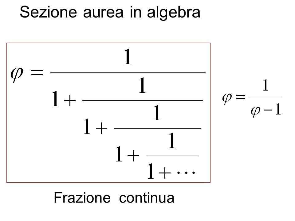 Sezione aurea in algebra