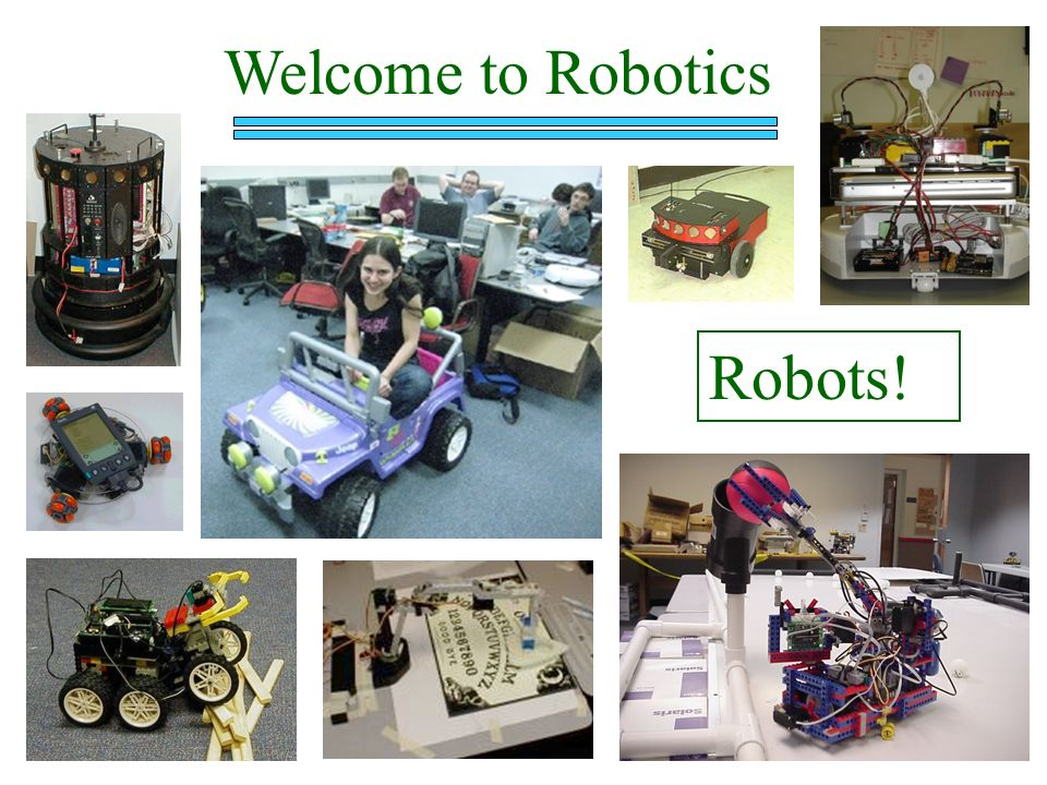 Welcome To Robotics Robots Welcome Excited Stories Ppt