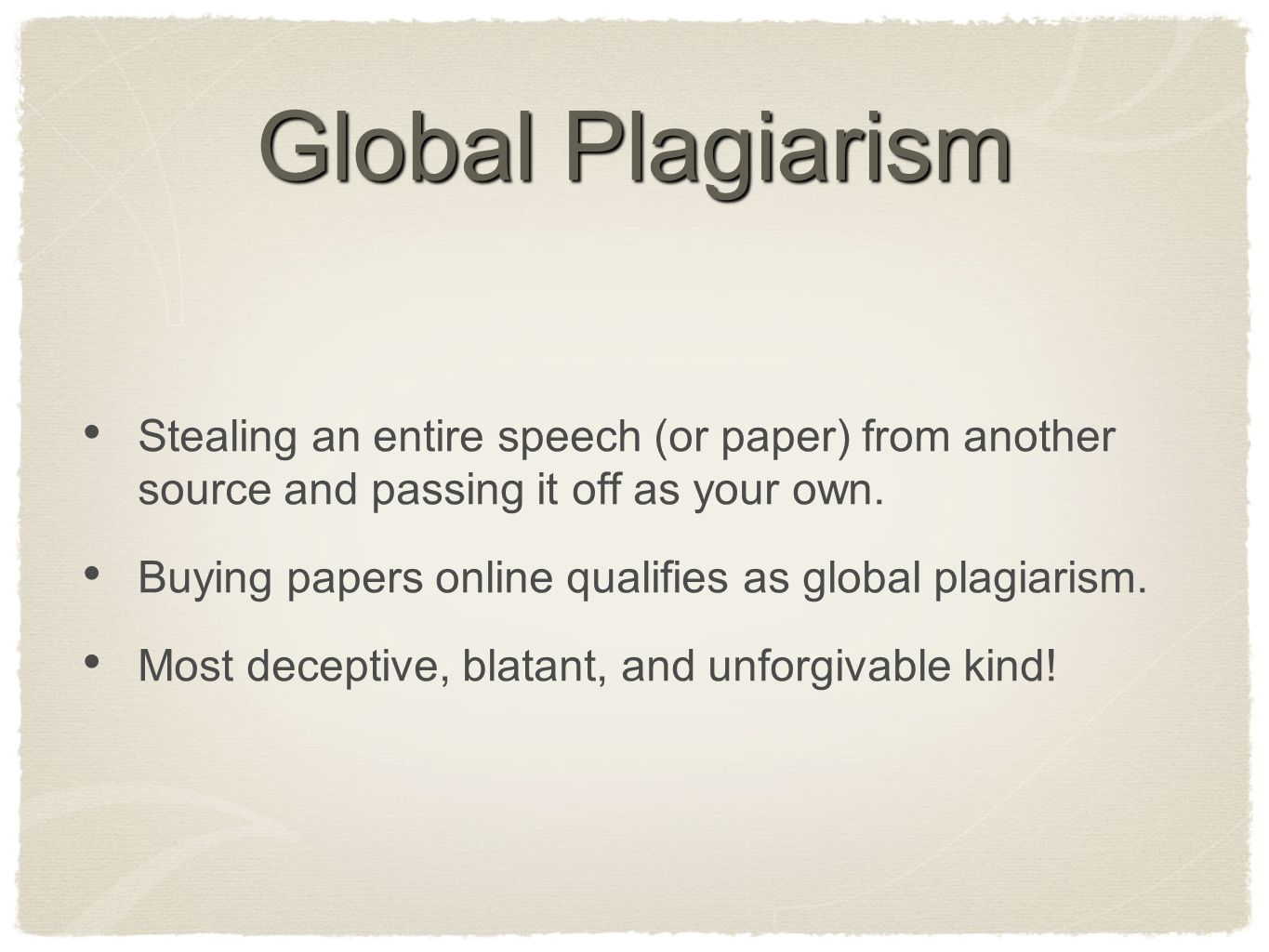 is buying a paper online plagiarism