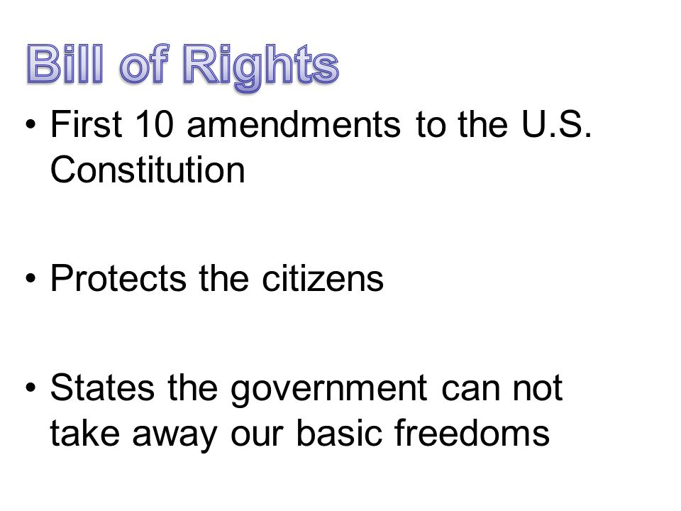The importance of the first amendment of the bill of rights
