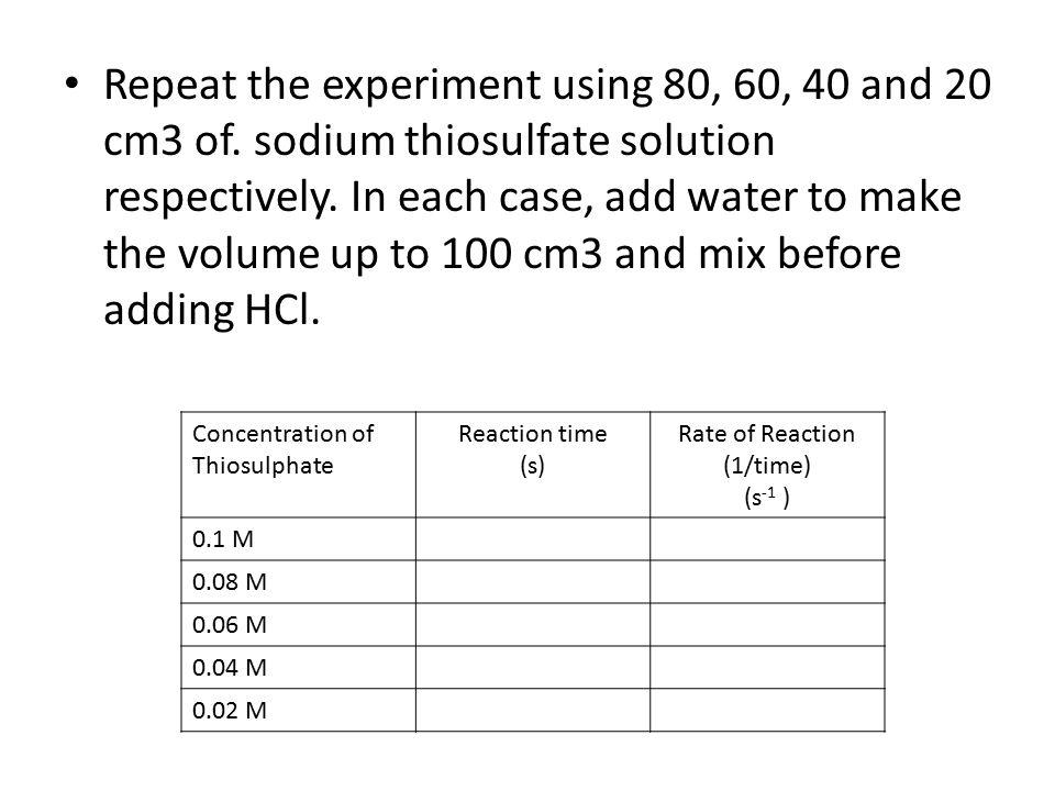 réaction iode par le thiosulfate de sodium