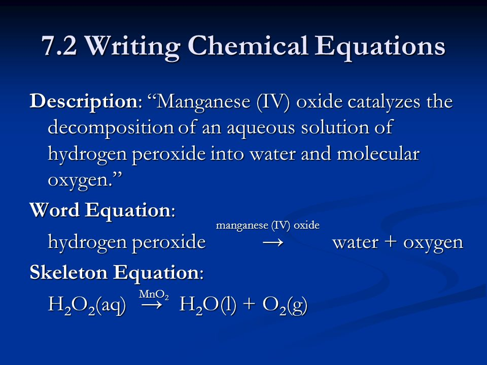 writing chemical equations ppt Chemical equation - describes a 1_paper 2_paper 3_paper balancing chemical equations what is a chemical equation reactants and products subscripts and coefficients a chemical reaction law of conservation of mass an unbalanced equation powerpoint presentation rules of the game.