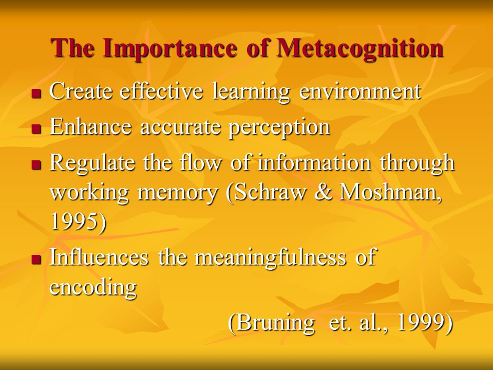 metacognitive skills Discover evidence-based strategies for teaching metacognitive thinking in primary and secondary classrooms.