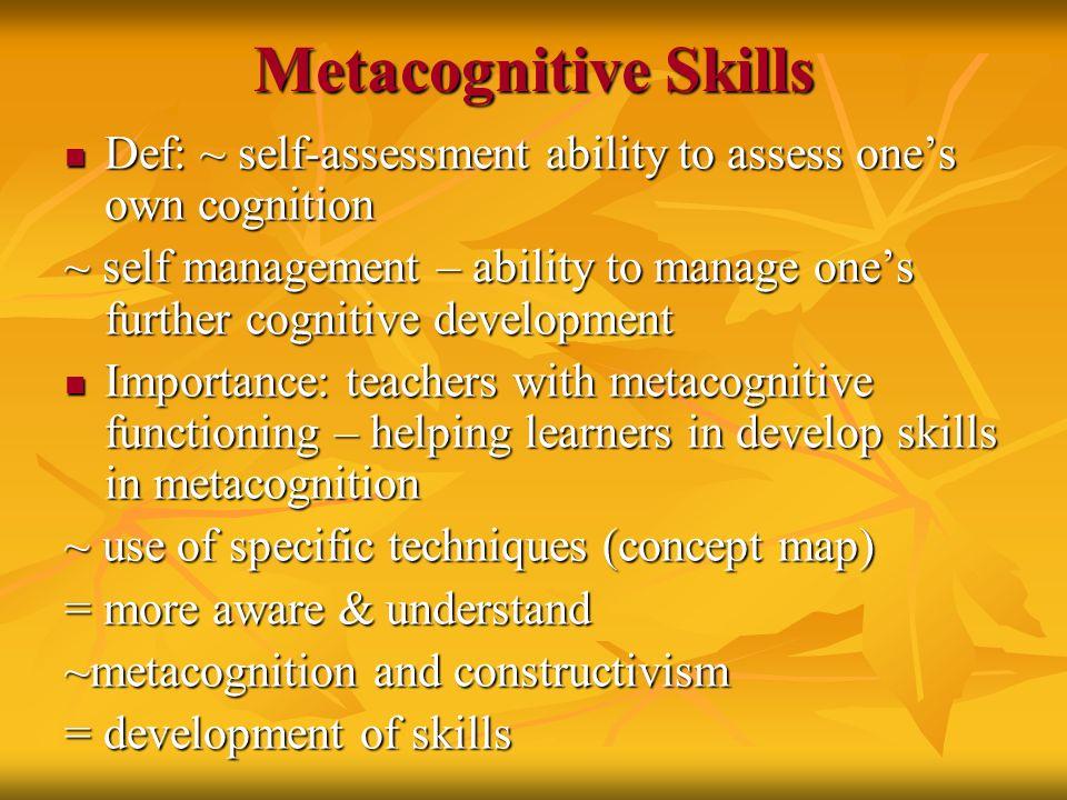 metacognition enhancing metacognitive skills