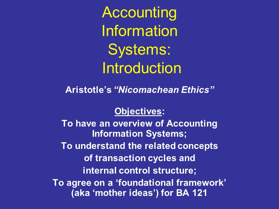 accounting information system structure of a Accounting information system facilitator: ahmed yasir  backbone  systems consist of a basic system structure on which to build.