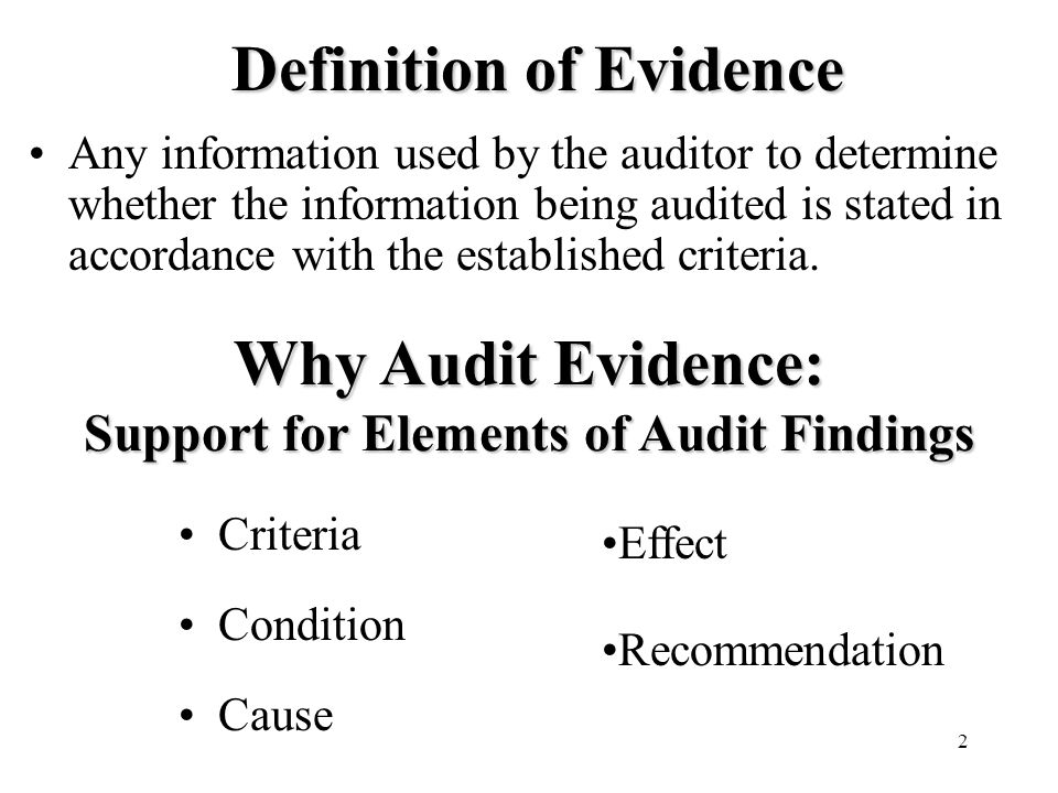 State of the art audit evidence ppt video online download for State of the art meaning