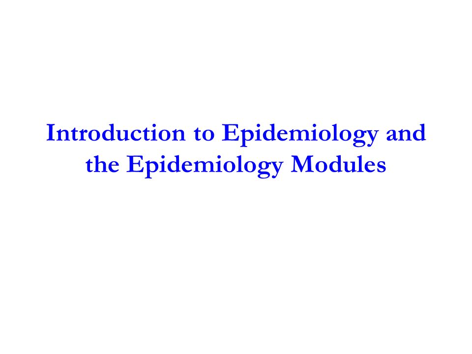 introduction to epidemiology Public health epidemiologists track diseases to figure out what caused them, how they are spread, and who is affected and at risk you will learn the importa.