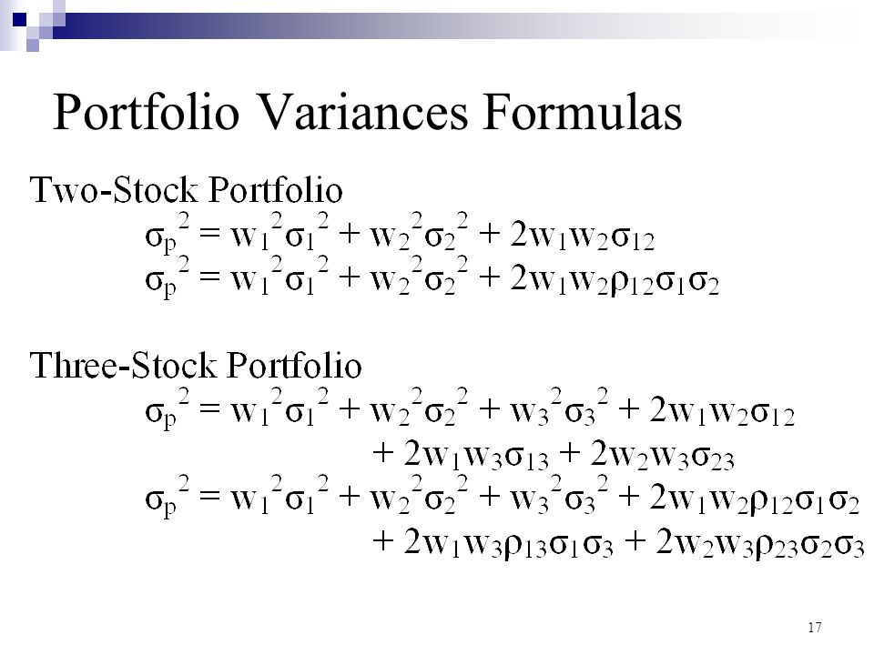 How to Calculate the Variance in a Portfolio