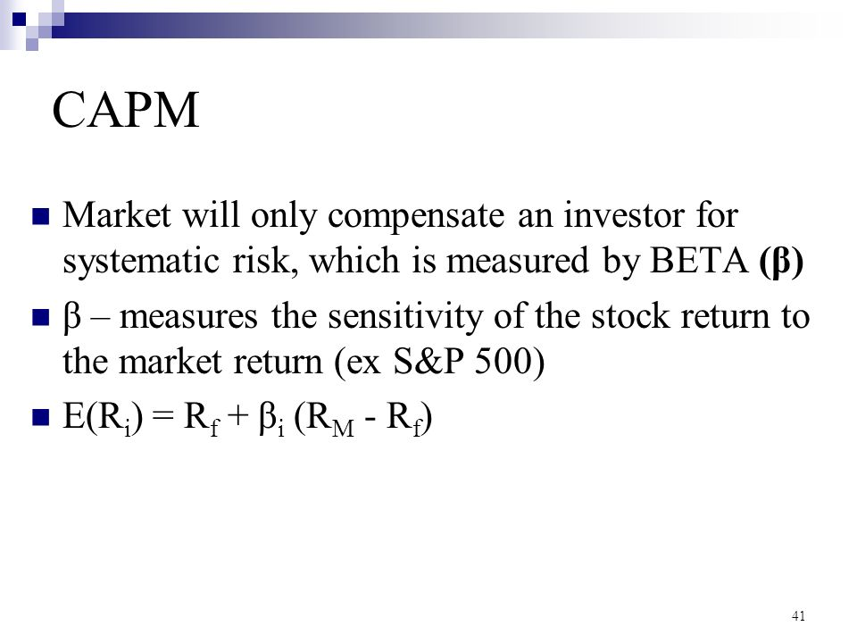 how to find rm in capm