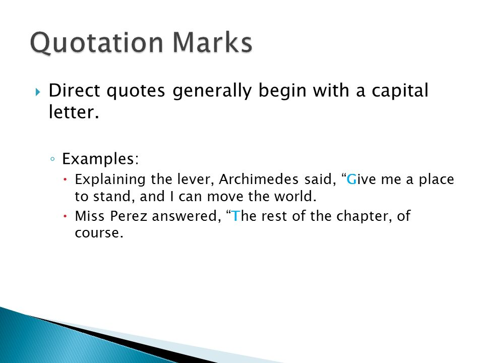 quotes marks