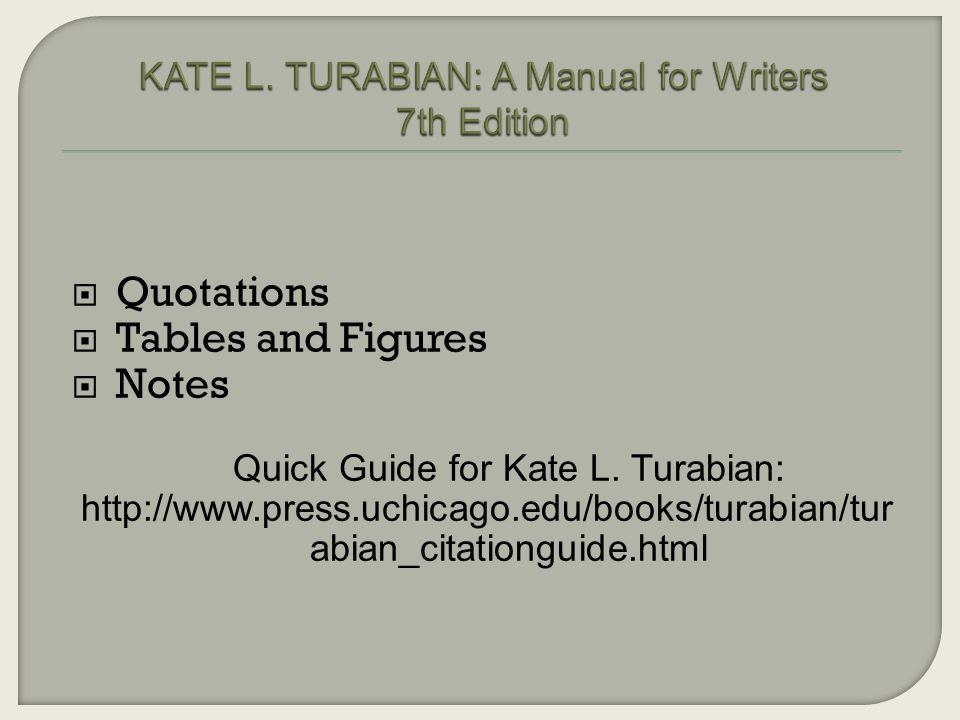 Kate L. Turabian, A Manual for Writers, Eighth Edition