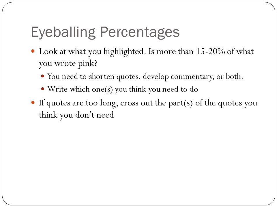 archetype research essay self review ppt video online  6 eyeballing percentages