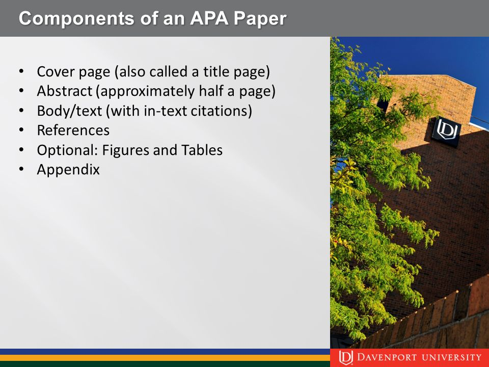 how to make an appendix in apa 6th edition
