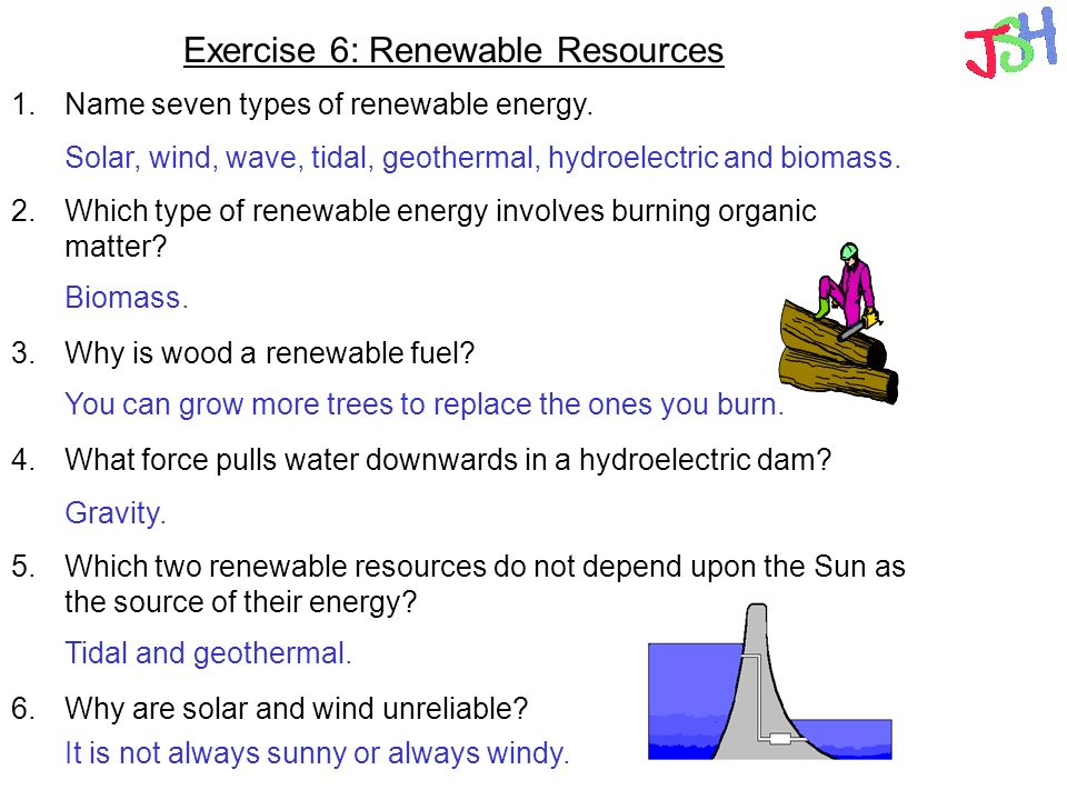 Exercise 6: Renewable Resources