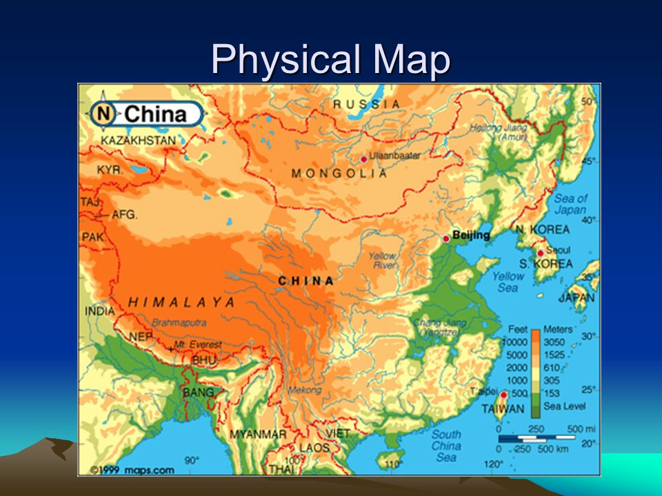 geography people s republic of china and
