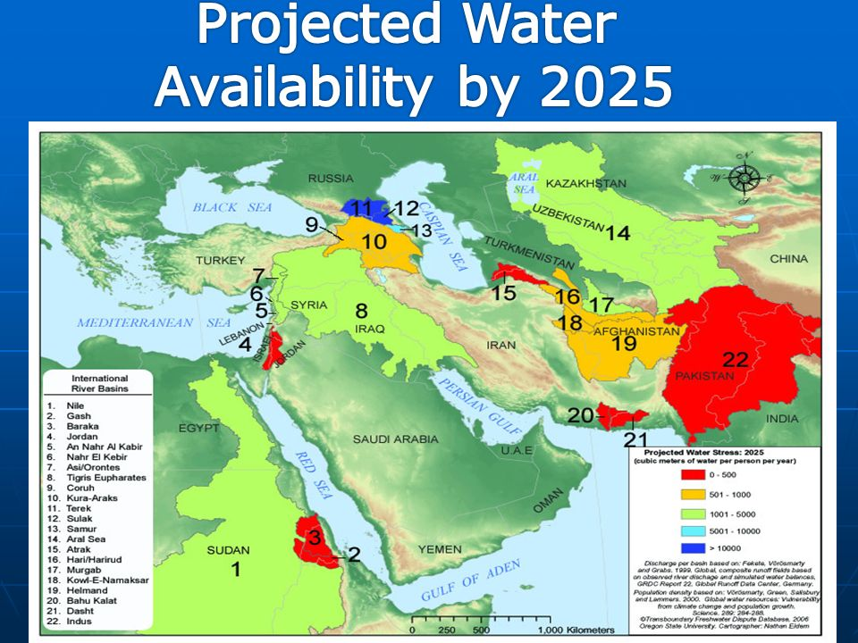 Southwest Asia Middle East Water Problems Crisis