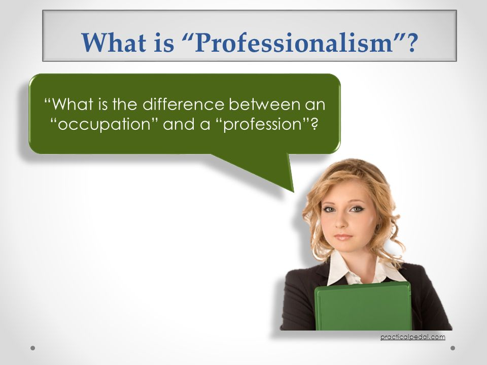 difference between profession and professionalism pdf