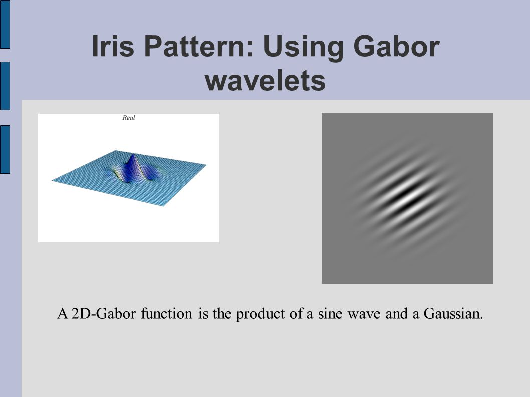 Iris Pattern: Using Gabor wavelets