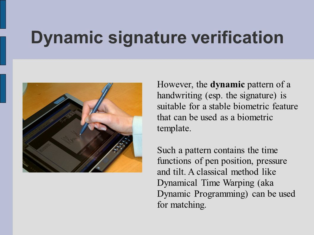 Dynamic signature verification