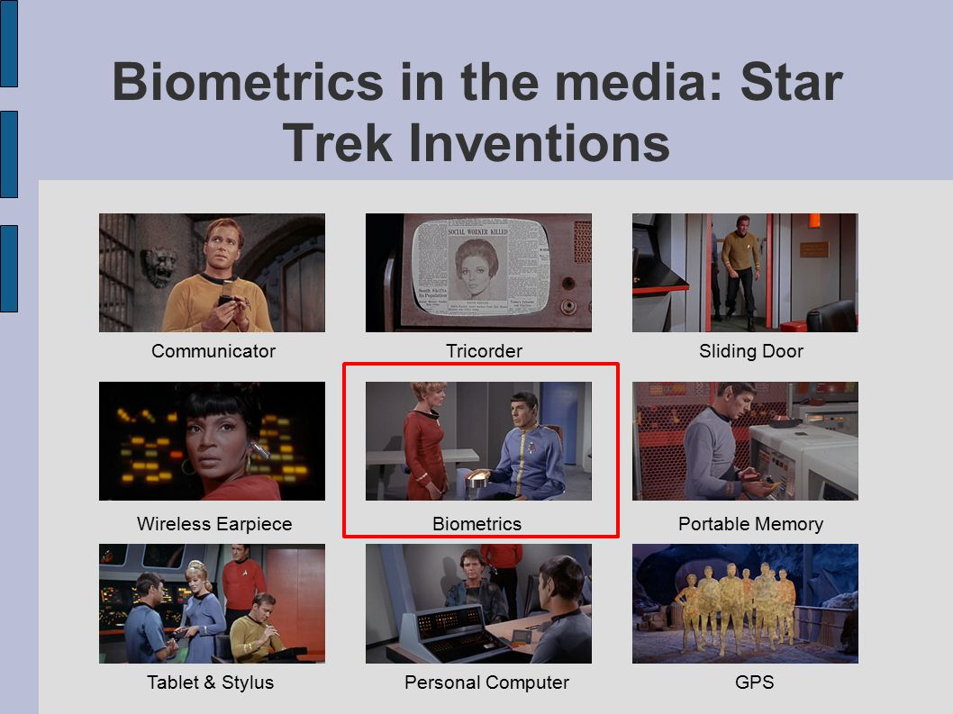 Biometrics in the media: Star Trek Inventions