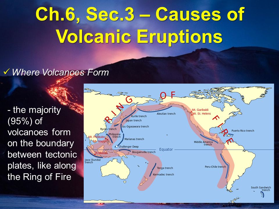 Ch.6, Sec.3 – Causes of Volcanic Eruptions - ppt video online download