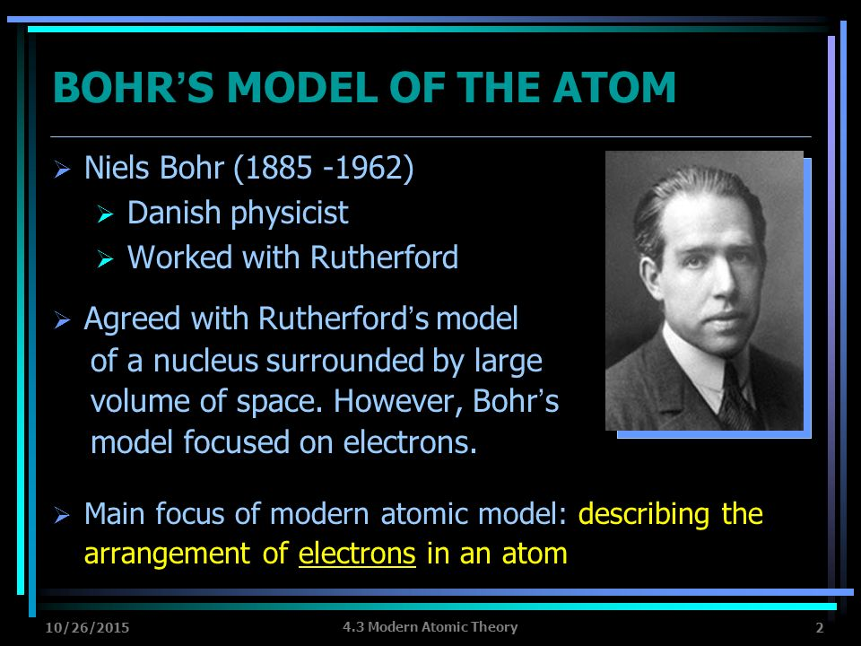a discussion about the modern atom model Dot physics the development of the atomic model  i am not going to go into the experimental evidence for dalton's model of the atom, it's good stuff though  but, without a discussion.