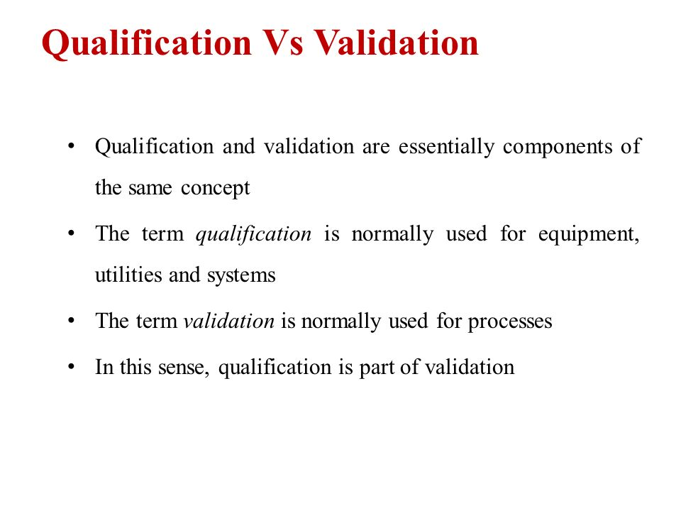 System Integrity and Validation