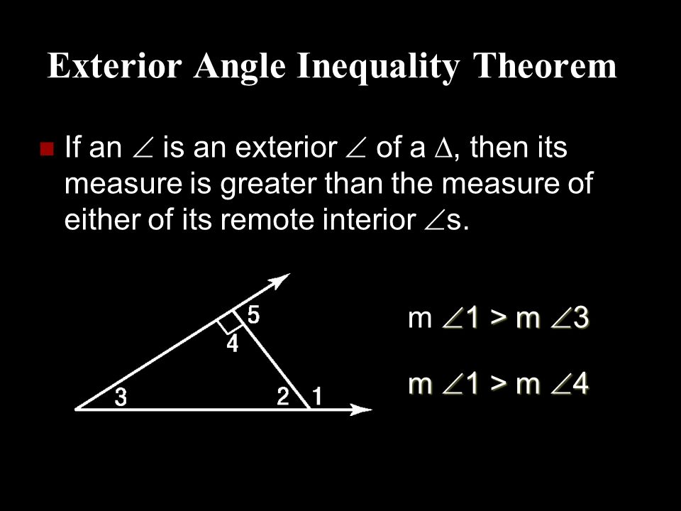 The triangle inequality inequalities in multiple triangles - The exterior angle theorem answers ...