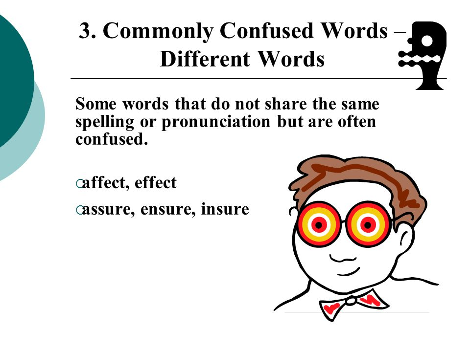3. Commonly Confused Words – Different Words