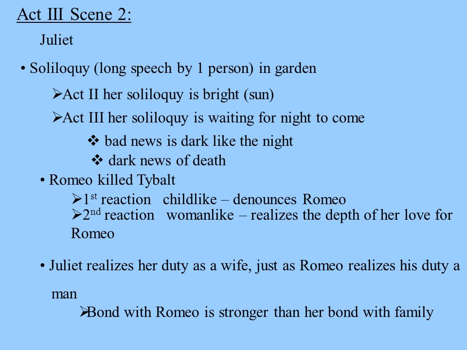 juliets second soliloquy Free summary and analysis of act 2, scene 2 in william shakespeare's romeo and juliet that won't make you snore we promise.