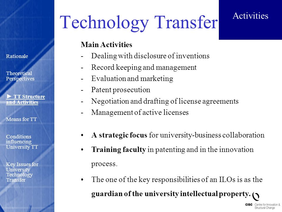 How Negotiation Works >> University Technology Transfer and Commercialisation of Research: Some Evidence from ...