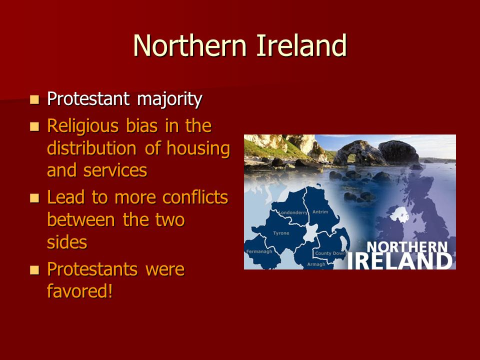 a history of the protestants in the northern state A history of protestant irish speakers today the irish language is associated with catholicism and irish nationalism yet at one point in irish history anyone who could read and write in irish was believed to be a in the northern parts of the county of antrim.