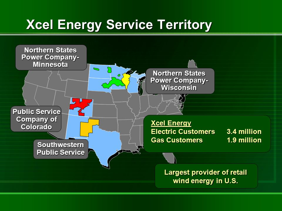 Xcel Energy Natural Gas Service Area