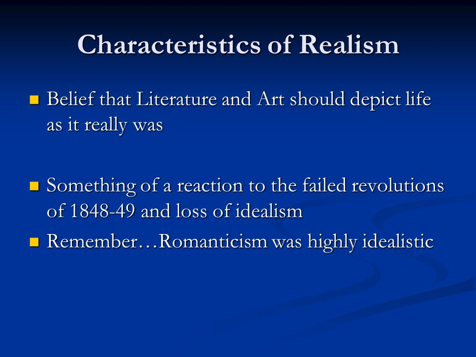what are the characteristics of romanticism