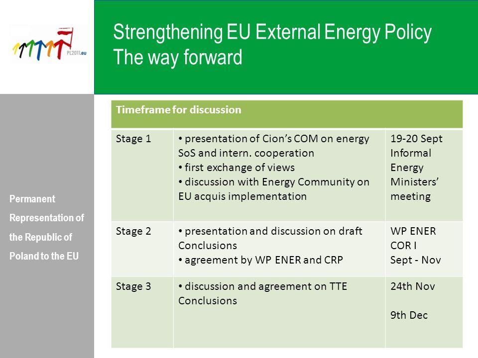 Strengthening EU External Energy Policy The way forward