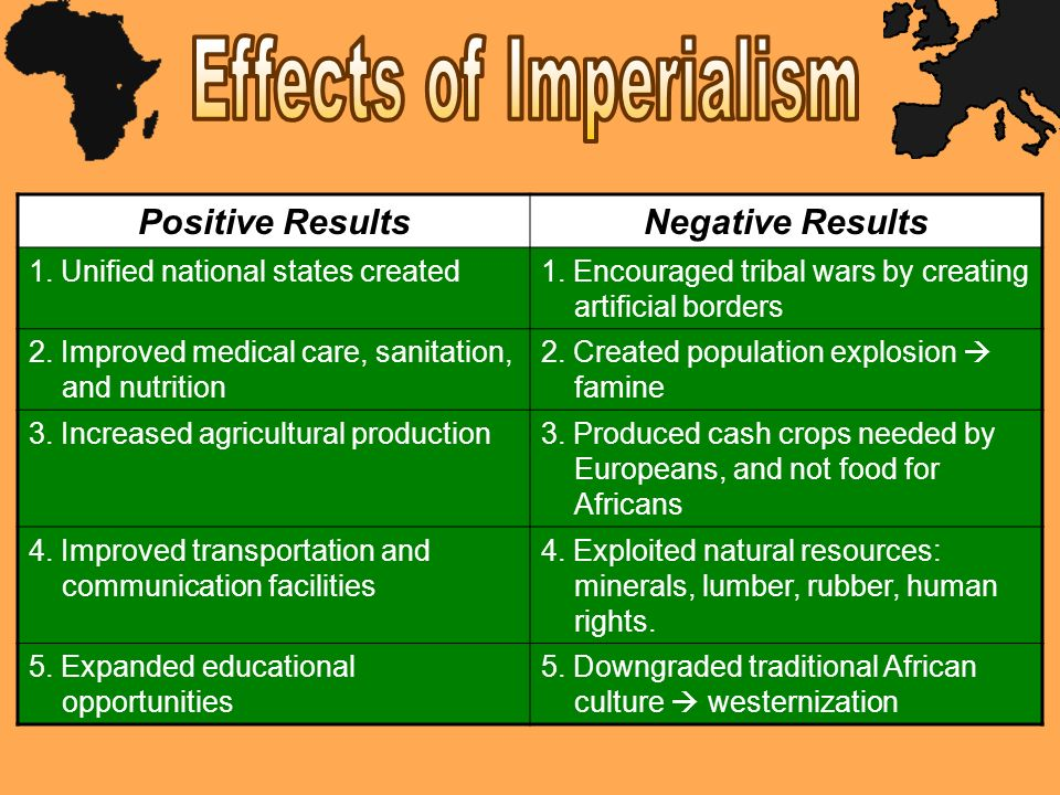 What are the negative effects of imperialism?