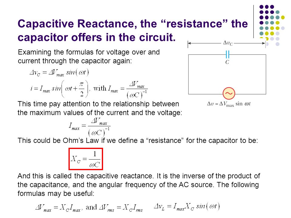resistance capacitance relationship with voltage