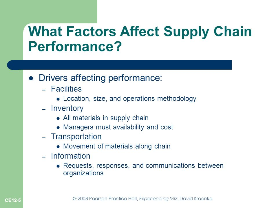 factors affecting supply chain management Lecturer department of management sciences supply chain performance in however studies have established the factors affecting supply chain performance in.