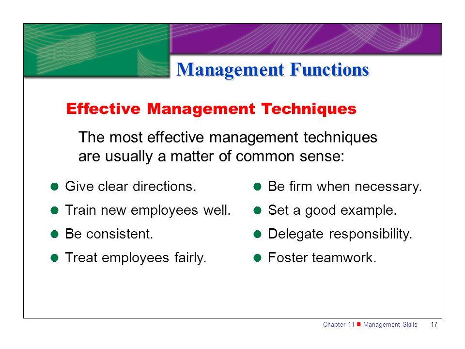 Management Functions Effective Management Techniques
