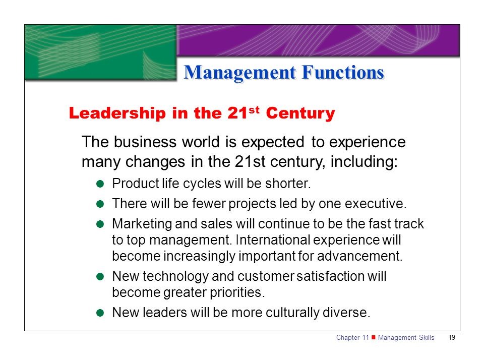 Management Functions Leadership in the 21st Century