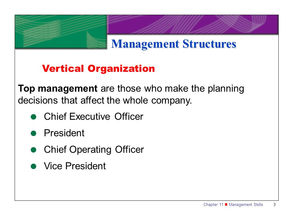 Management Structures