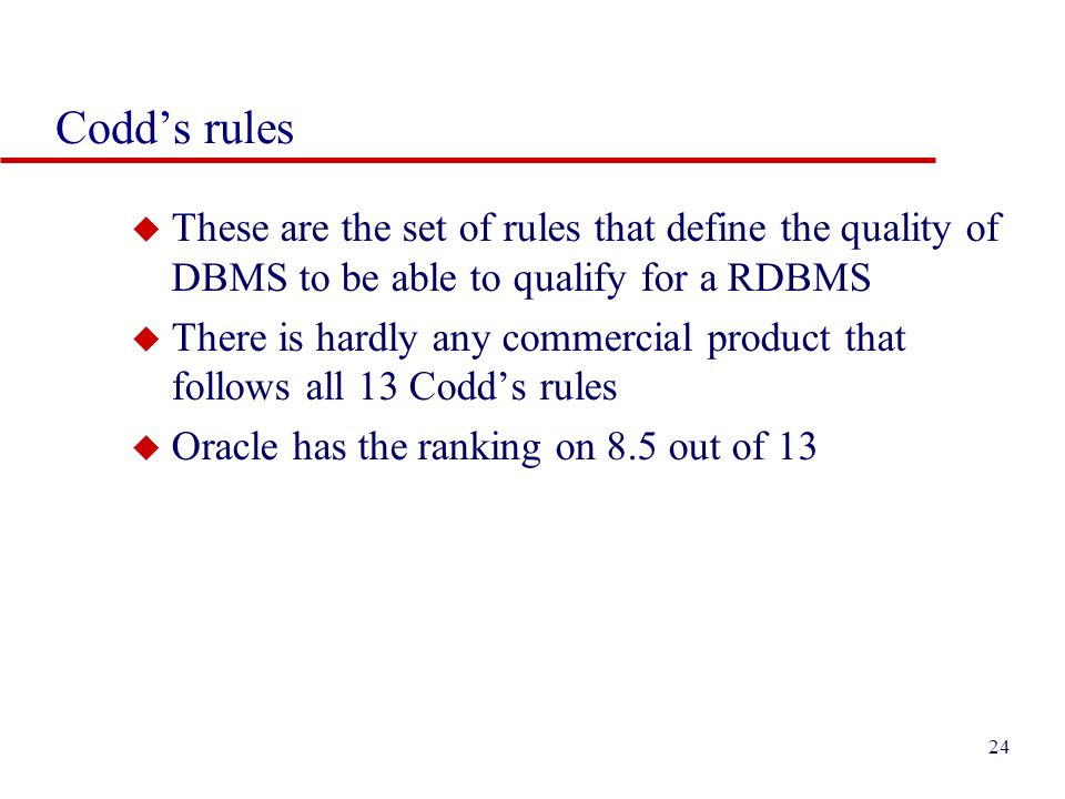 codd rules with examples pdf