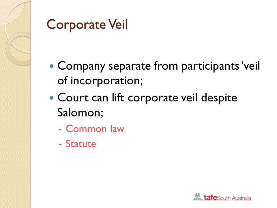lifting the veil of incorporation Buy company law significance of corporate personality and the meaning of 'lifting the veil of incorporation': read kindle store reviews - amazoncom.